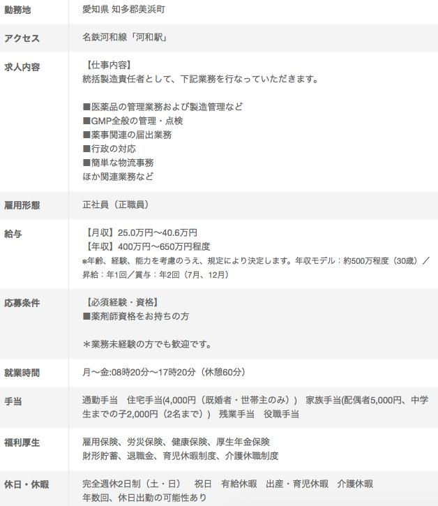 品質管理の求人情報01